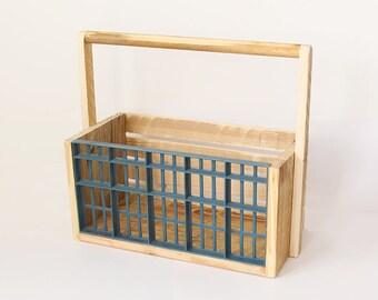 Wooden box, Wooden crate, Wooden bin, Storage bin, Kitchen storage, Gift basket, Rustic box, Wooden storage box, shabby chic decor