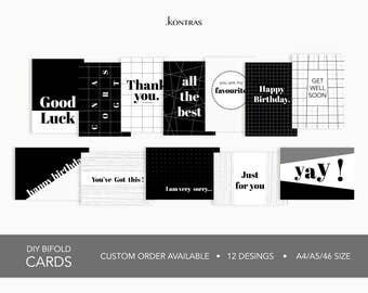 Debut - Printable Greeting Card (12 Designs)