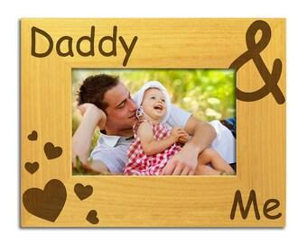 Papa und mich - solide Holz Rahmen Dad Fotorahmen, Bilderrahmen Daddy