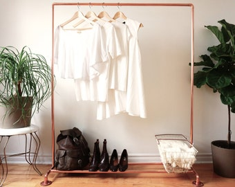 Copper Pipe Clothing Rack / Garment Rack / Clothes Rail - 4' Long