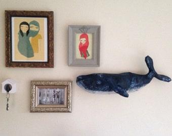 Blue Whale wall sculpture