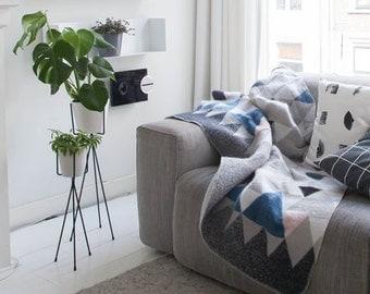 Mohair Blanket 01 - Wool blanket. Wool throw. bed spread. Grey blanket. bed throw