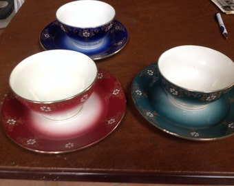 K and G Luneville France Bread and Milk Dishes
