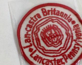 "Patch/Applique /Lan-castra Britannia- Lancaster Pennsylvania/3"" Round/Free Shipping Within Cont. USA"