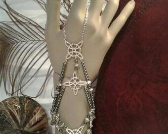 Celtic Knots & Hematite Slave Bracelet