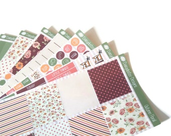 Autumn Floral Planner Sticker Kit by Daisyduster Designs