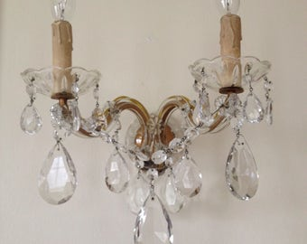 Vintage 1940s Maria Theresa Wall Sconces