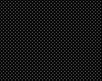 "Swiss Dots 1/8"" Black And White By Riley Blake Fabric"