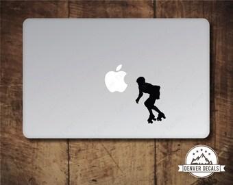 Roller Derby Apple Macbook Sticker Mac Decal 13 15, Roller Skater