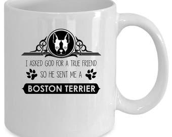 Boston terrier white coffee mug. Funny Boston terrier gift