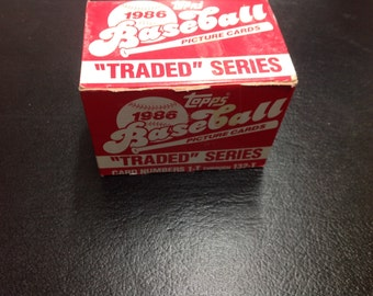 Topps 1986 traded series