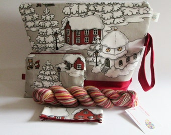 SET-003, knitting, Projectbag, Knittingprojectbags, Projectbags, Selfstriping yarn, knitting, crochet, embroidery, knitting project bag