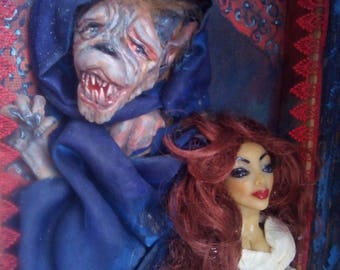 Beauty and the Beast wall decor doll