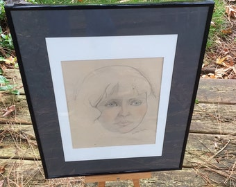 SALE/Original Drawing Signed Raphael Soyer Young Woman Famed Listed Artist Soyer