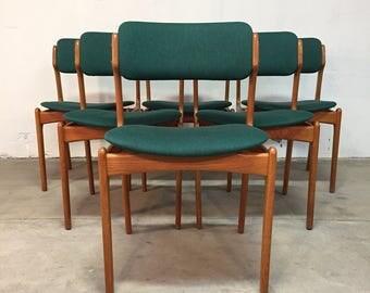 Erik Buch O.D Møbler Mid-Century Teak Dining Chairs (6)