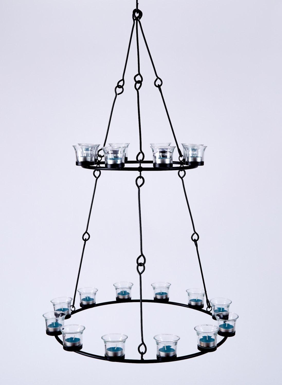 Tea Light Chandelier Double Tier Tea Light Holder Candle