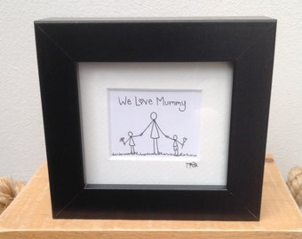 We love Mummy box frame picture