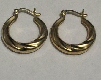 Sterling Silver Hoop Earrings GGG