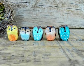 owl polymer clay baby owls cute figurines