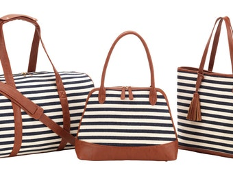 Chandler Stripe Collection - Travel Duffel FREE MONOGRAM