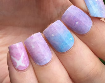 Space Nail Polish Wraps