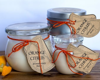 Orange Citrus Aromatherapy Handmade Soy Candle