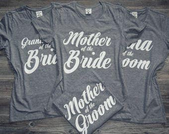Grandmother-of-the-Bride Shirt, Grandmother-of-the-Groom Shirt, Grandmother of the Bride T-Shirt Top, Grandmother of the Groom T-Shirt Top