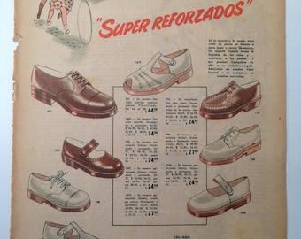 "Shoes ""Oscaria"" Vintage Ad (1949)"