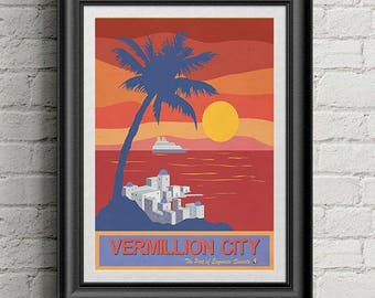 Pokemon Travel Poster Vermilion City