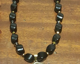 onyx one of a kind handmade necklace