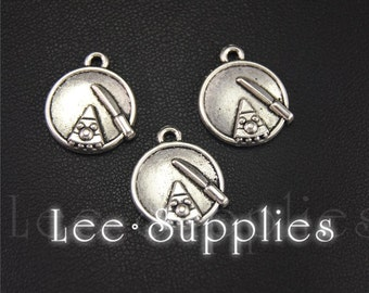 20pcs Antique Silver Dishes And Food Charms Pendant A1962