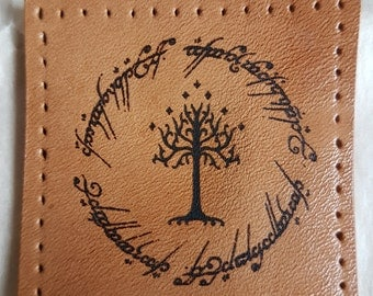 Leather Tolkien patch - soft leather. Lord of the Rings.