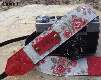Camera strap/Leather camera strap/Personalized camera strap/Personalized Leather camera strap/Canon camera strap/Nikon camera strap