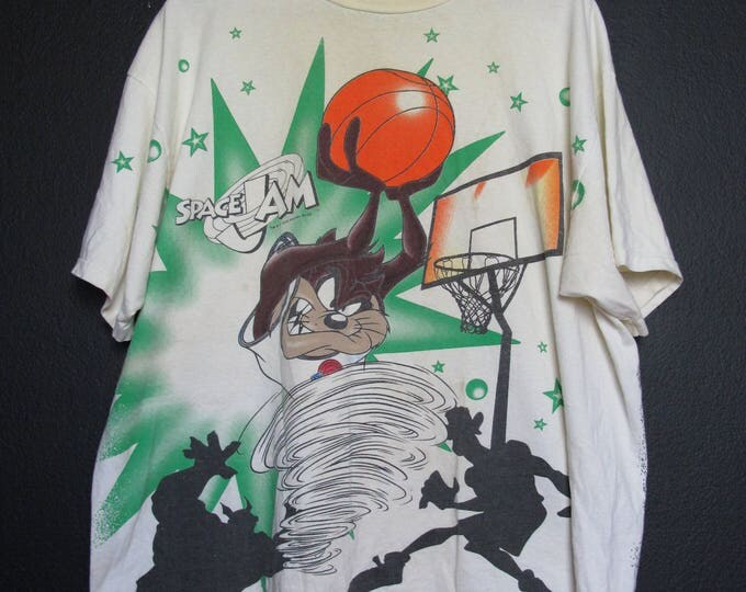 Space Jam Tasmanian Devil 1996 Vintage Tshirt