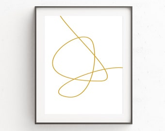 Gold Large Abstract, Gold Bedroom Decor, Scandinavian Affiche, Large Modern Print, Affiche Abstract, Large Abstract Decor, Modern Boho Decor