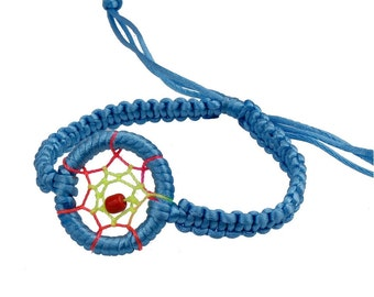 Dream Catcher Bracelet  (Light Blue)
