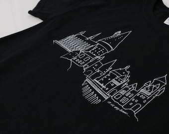 Hogwarts Harry Potter Castle T-Shirt UNISEX harry potter Men's Clothing Harry potter shirt Wizarding world hogwarts castle deathly hallows