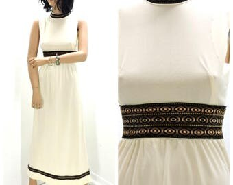 60s Renaissance dress XS, boho hippie festival dress vintage 1960s maxi dress SunnyBohoVintage