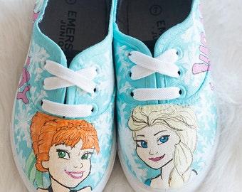 FROZEN Custom kids shoes - Elsa and Anna
