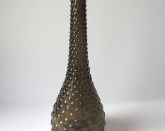 Midcentury Smoke Glass Genie Bottle *RARE