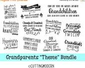 40% OFF SALE SVG Files Grandparent Theme Bundle - Commerical Use Ok- Huge Savings - Silhouette Cameo - Cricut- Vinyl Projects - Diy