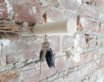Wood peg, crochet, modern peg, wall hook