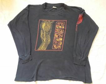 Vintage 1994 Carcass Tour Long Sleeve T Shirt . Vtg 90s 1990s Death Metal LS Earache Napalm Death