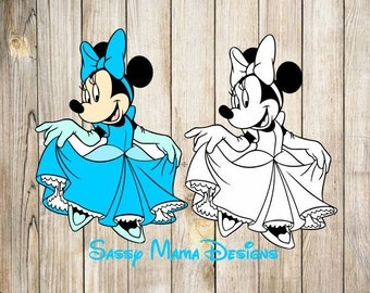 Minnie Mouse Princess SVG, PNG, GIF, jpeg design, instant dowload