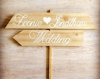 2 Slat Sign Post Slats, Rustic Wedding, Solid Wood