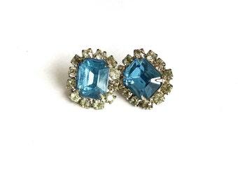 Beautiful Cluster Earrings // Silver Earrings // Retro // Vintage