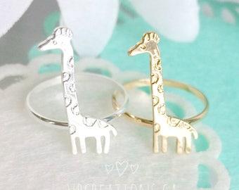 Giraffe Ring - Giraffe Jewelry - African Jewelry - Animal Ring - Animal Jewelry - Children - Best Friend Gift - Friend Jewelry - Sister Gift