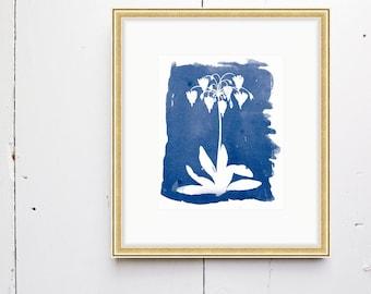 Shooting Star Watercolor Print - SMc. Originals, watercolor painting, rustic, modern, original artwork, floral series, floral, organic, navy