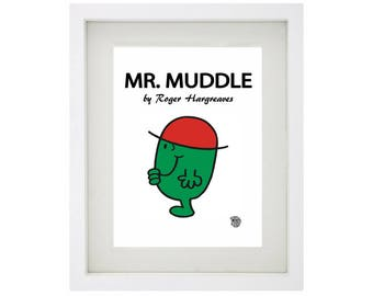 MR MUDDLE Character Framed Art Print - Mr Men and Little Miss