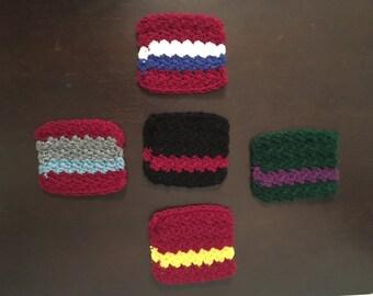 Crocheted Avengers Coasters